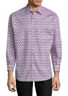 Robert Graham Graphic Cotton Button-Down Shirt