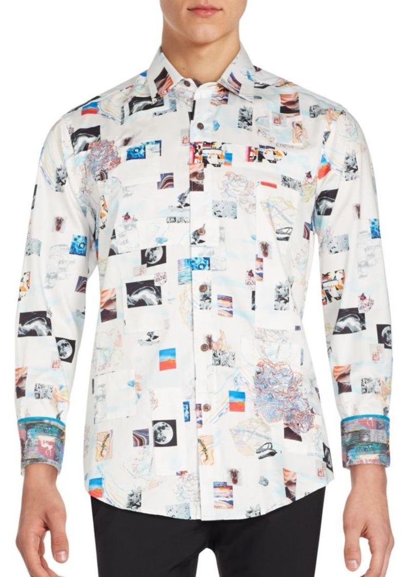 Robert Graham Graphic Long Sleeve Button-Down Shirt