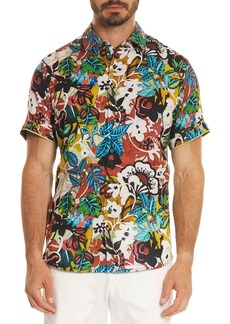 Robert Graham Havana Floral Short-Sleeve Sport Shirt