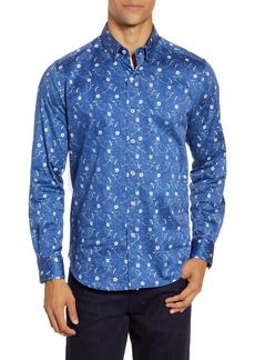 Robert Graham Hawkeswrth Floral Button-Up Shirt