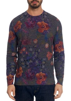 Robert Graham Hawkeye Geo-Floral Pullover Sweater