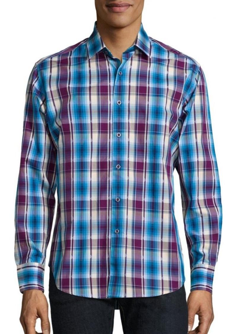 Robert Graham Hiran Regular-Fit Plaid Shirt