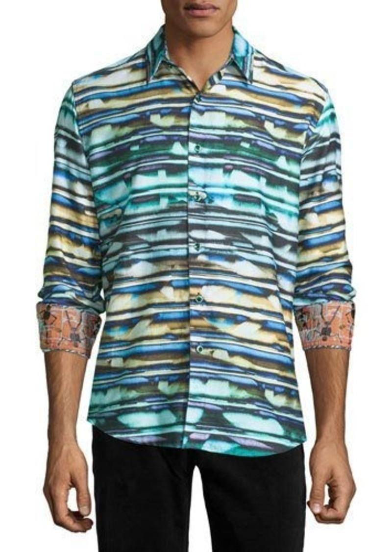 Robert Graham Hooligans Striped Woven Sport Shirt