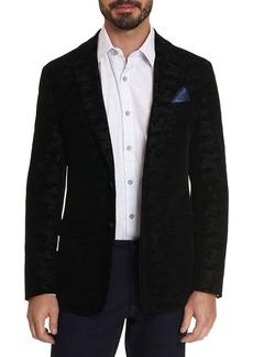 Robert Graham Hoyle Velvet Textured Camouflage Jacquard Tailored Fit Sport Coat