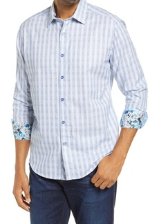 Robert Graham Illusionist Classic Fit Geo Print Button-Up Shirt