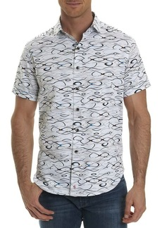 Robert Graham Illusions Wavy-Print Short-Sleeve Sport Shirt