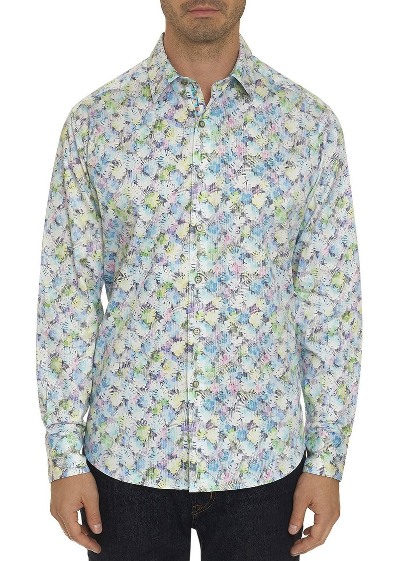 Robert Graham Kakamas Striped Leaf Classic Fit Shirt