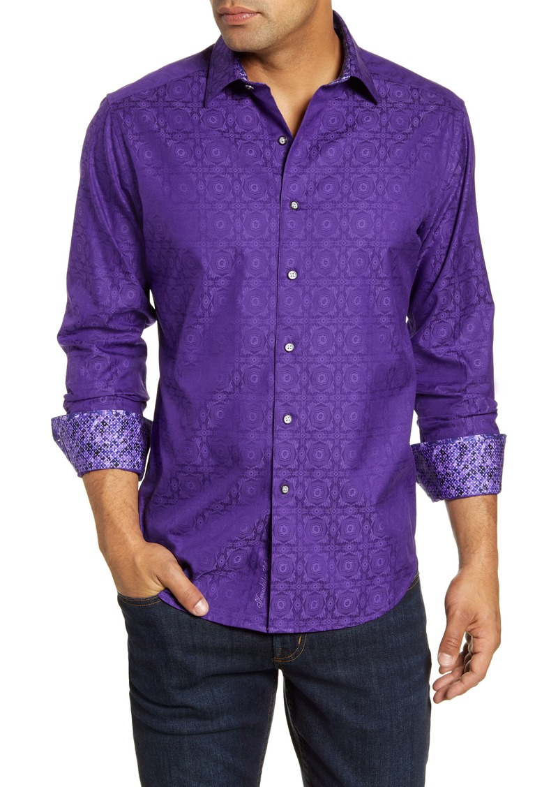 Robert Graham Keaton Regular Fit Button-Up Sport Shirt