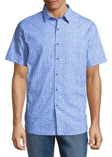 Robert Graham Khan Cotton Button-Down Shirt