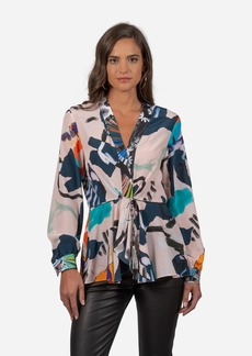 Robert Graham Lacey In Paradise Printed Silk Blouse