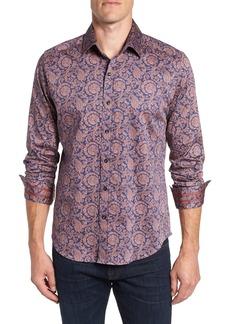 Robert Graham Lang Tailored Fit Print Sport Shirt