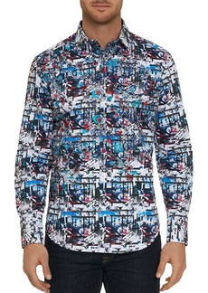 Robert Graham Larson Abstract-Print Classic Fit Shirt