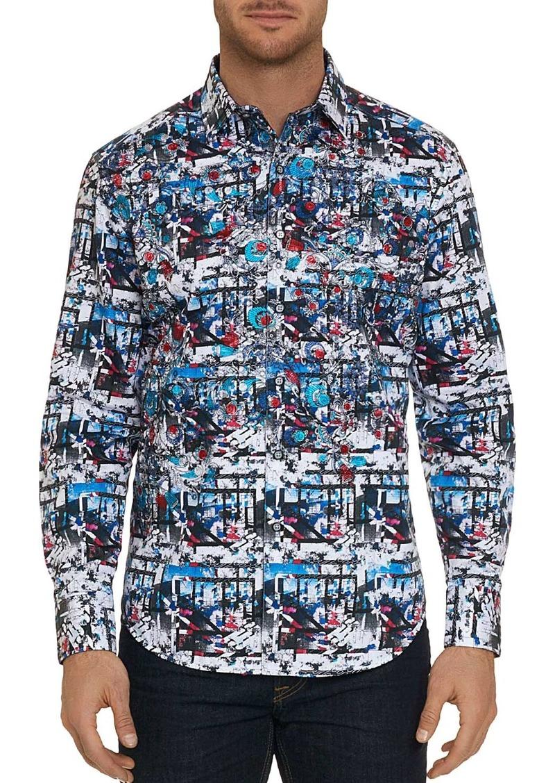 Robert Graham Larson Abstract-Print Classic Fit Shirt