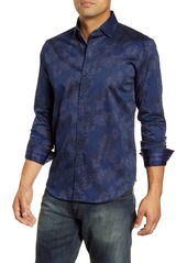 Robert Graham Lee Tailored Fit Floral Camo Button-Up Sport Shirt
