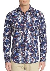 Robert Graham Lennoxtown Printed Cotton Sport Shirt