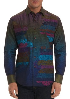 Robert Graham Limited Edition Ombre Pattern Regular Fit Button-Down Shirt