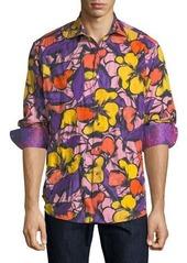 Robert Graham Limited Edition Sacaton Floral-Print Sport Shirt