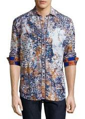 Robert Graham Limited Edition Tile-Print Sport Shirt