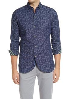 Robert Graham Lloyd Regular Fit Stretch Skull Print Button-Up Shirt