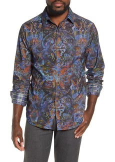 Robert Graham Lucy Diamond Regular Fit Paisley Button-Up Shirt