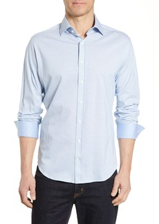 Robert Graham Lyells Tailored Fit Piqué Sport Shirt