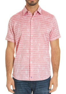 Robert Graham Machado Leaf Stripe Button-Down Shirt