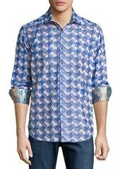Robert Graham Making Waves Printed Button-Front Shirt