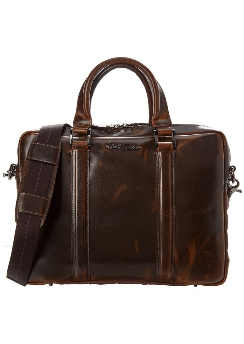 Robert Graham Mantalos Leather Briefcase