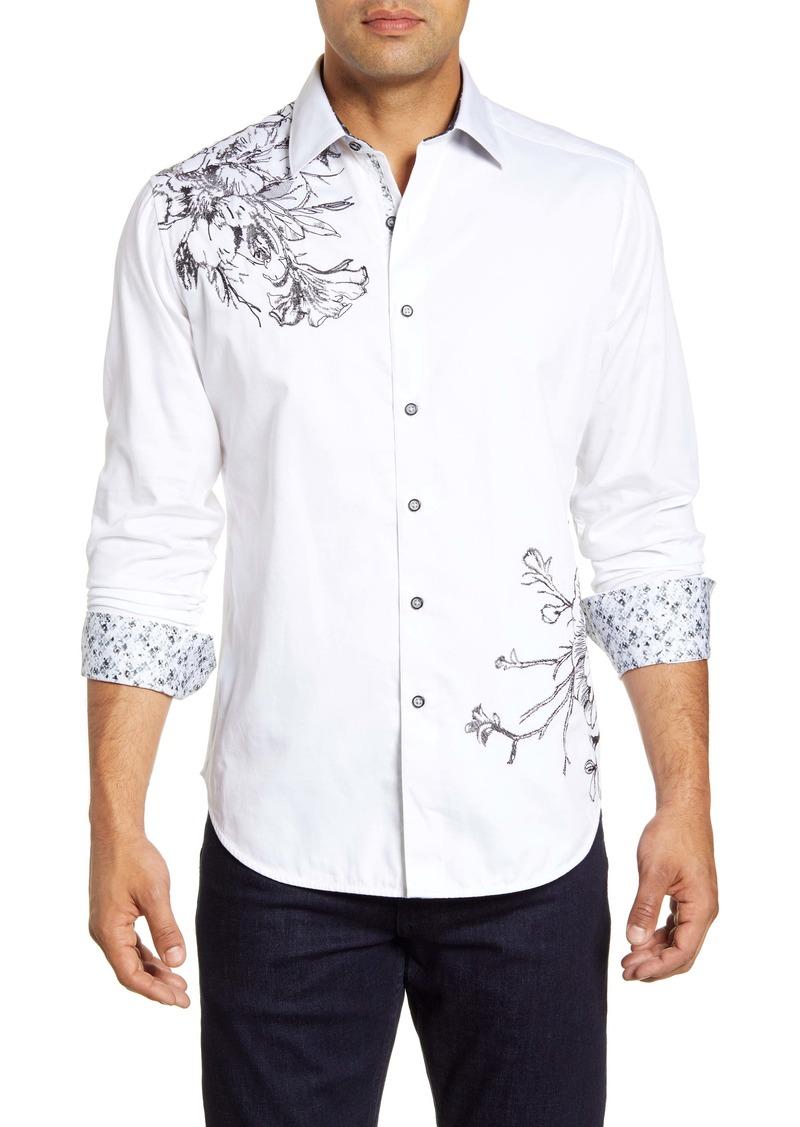 Robert Graham Memento Regular Fit Floral Button-Up Shirt