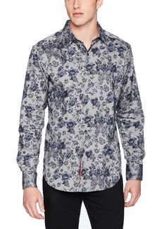 Robert Graham Men's Barker Long Sleeve Classic FIT Shirt  XLarge