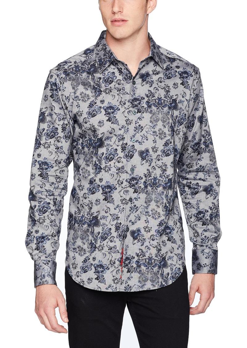 Robert Graham Men's Barker Long Sleeve Classic FIT Shirt  XLarge