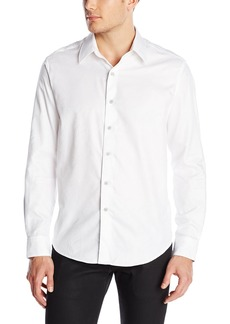 Robert Graham Men's Big and Tall Pyramid-Long Sleeve Button-Down Shirt