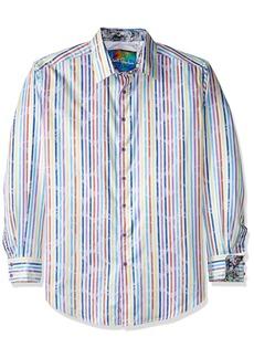 Robert Graham Men's Big Laughlin Long Sleeve Button Down Shirt  1