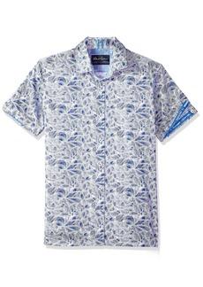 Robert Graham Men's Booker Short Sleeve Slim FIT Shirt