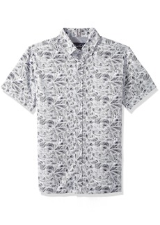 Robert Graham Men's Booker Short Sleeve Slim FIT Shirt  XLarge