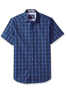 Robert Graham Men's Campfire Short Sleeve Classic Fit Shirt  2XLARGE