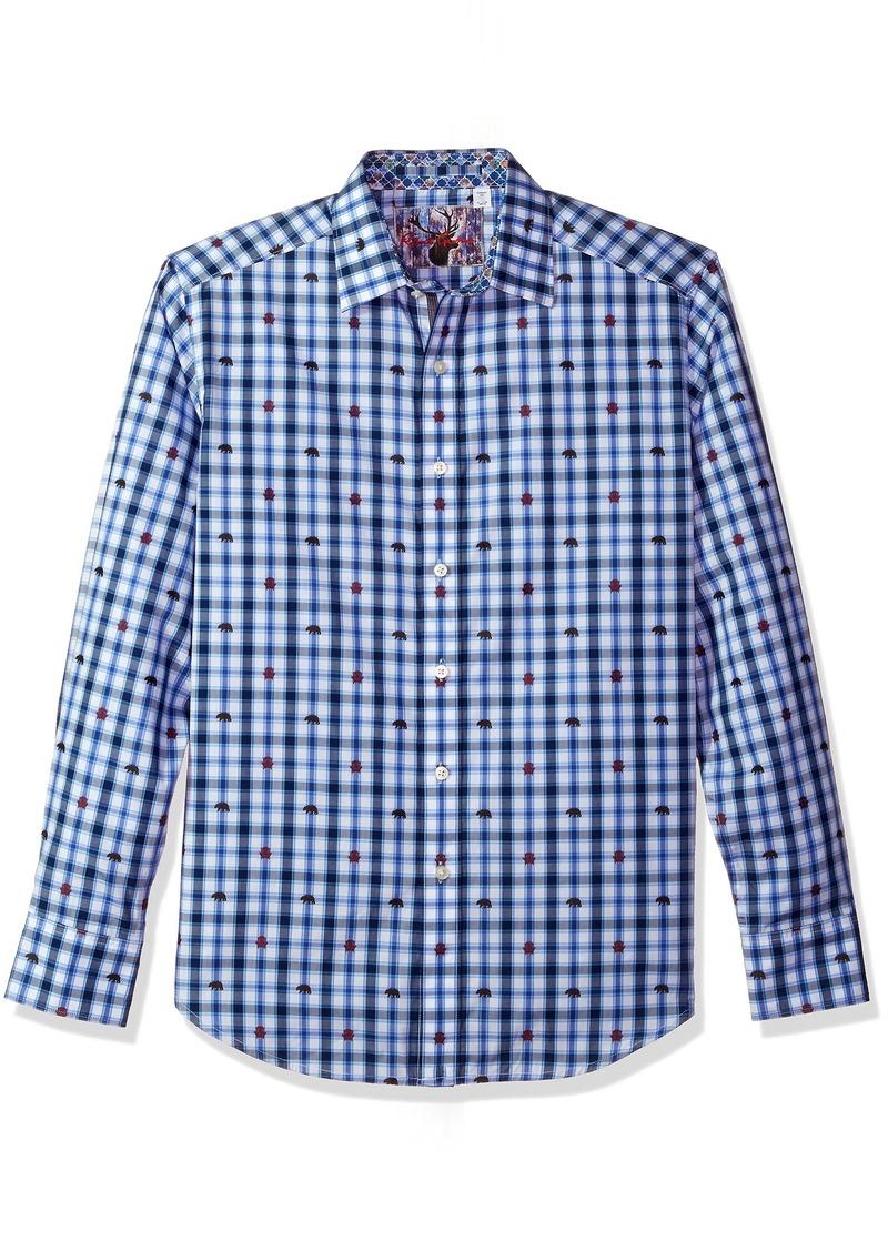 Robert Graham Men's Catskills Long Sleeve Classic FIT Woven Shirt  2XLARGE