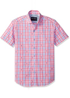 Robert Graham Men's Chancellor Short Sleeve Tailored Sport Shirt