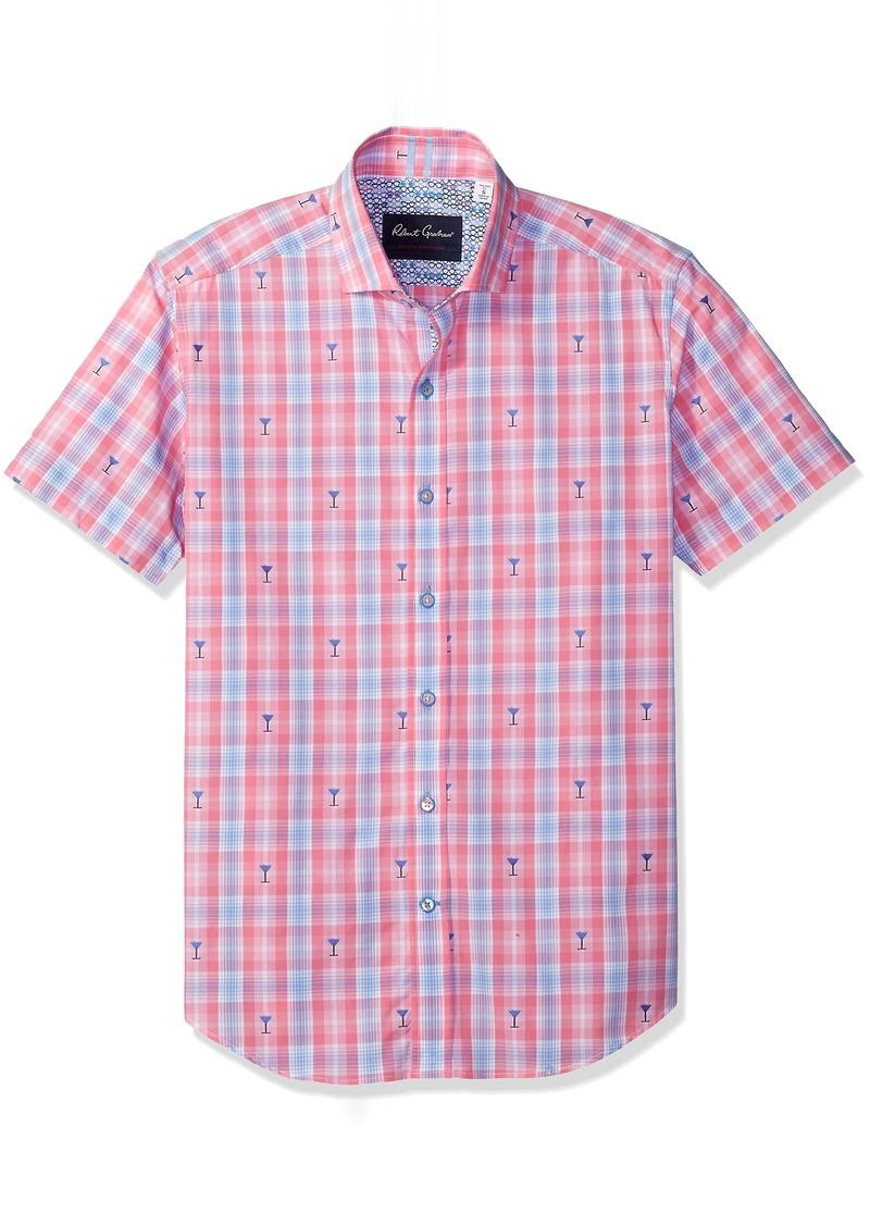 Robert Graham Men's Chancellor Short Sleeve Tailored Sport Shirt