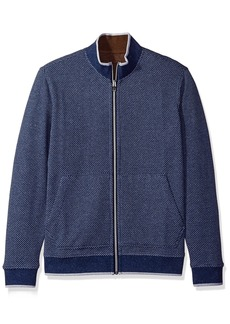 Robert Graham Men's Classic Fit Knit full zip reversible Sweater