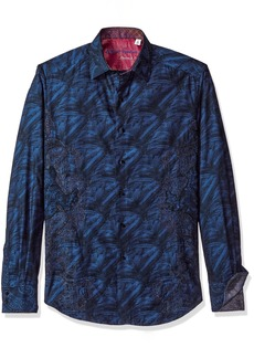 Robert Graham Men's Classic Fit Limited Edition Men's Woven Long Sleeve Sport Shirt