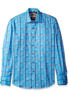 Robert Graham Men's Classic Fit Long Sleeve Woven Jacquard Sport Shirt
