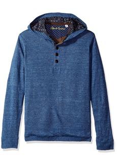 0113ea3b62 Robert Graham Men's Classic Fit satin lined Knit Hoodie Sweater 3XL