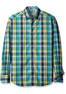 Robert Graham Men's Classic Fit Woven ong Sleeve Sport Shirt