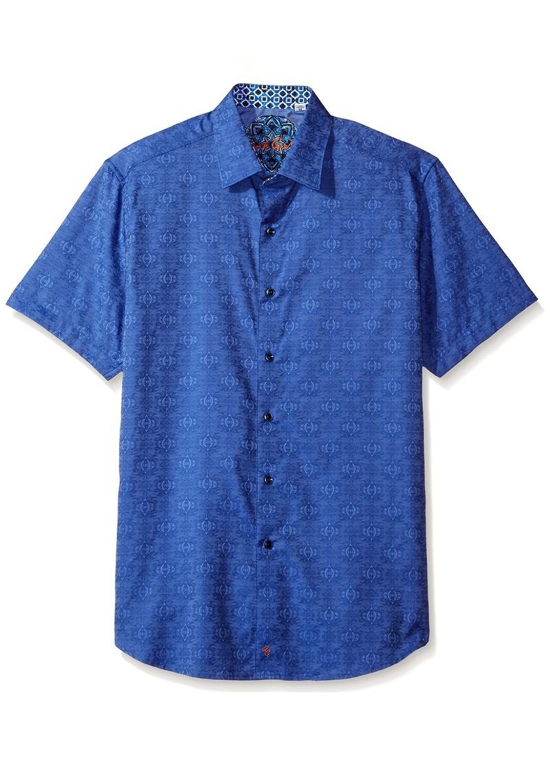Robert Graham Men's Classic Fit Woven Short Sleeve Button Down Shirt