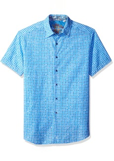 Robert Graham Men's Classic Fit Woven Short Sleeve Sport Shirt