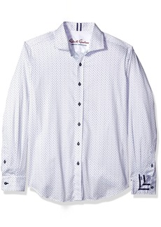 Robert Graham Men's Clay L/s Tailored Fit Woven Shirt  XL