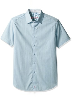 Robert Graham Men's Clemens S/s Classic Fit Woven Shirt  3XL