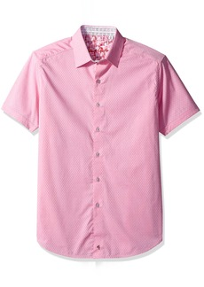 Robert Graham Men's Clemens S/s Classic Fit Woven Shirt  3XL