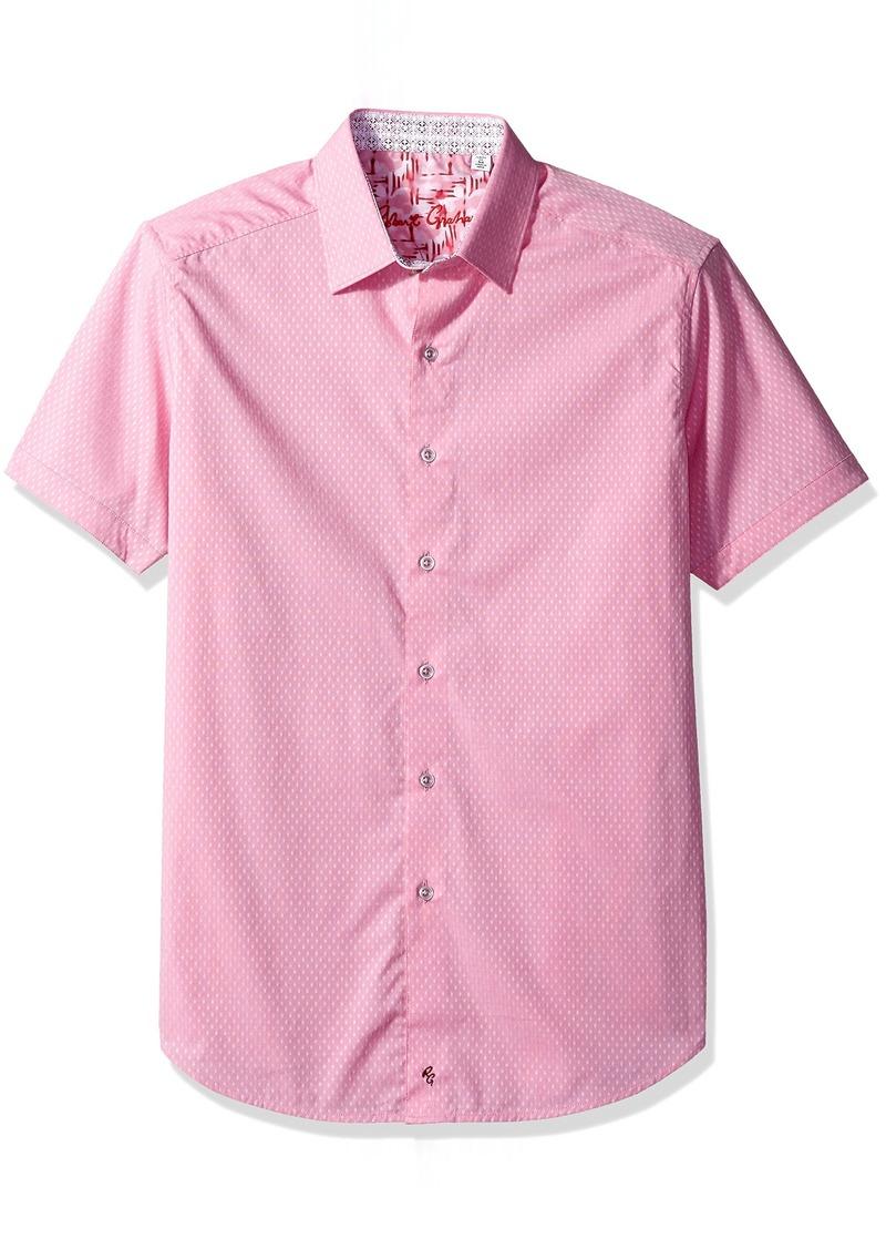 Robert Graham Men's Clemens S/s Classic Fit Woven Shirt red